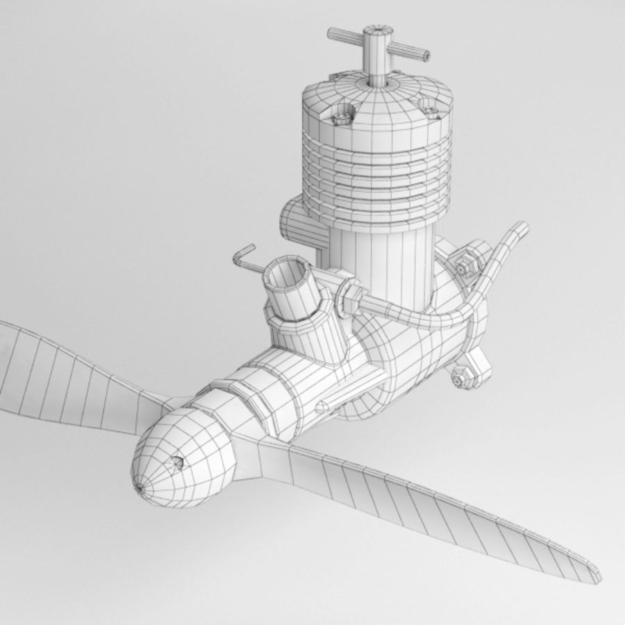 Model Engine001 royalty-free 3d model - Preview no. 7