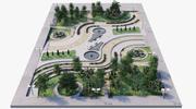 Parkera landskap 2 3d model