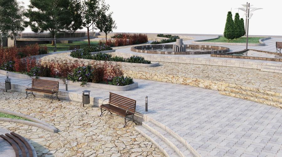 Parkera landskap 2 royalty-free 3d model - Preview no. 6