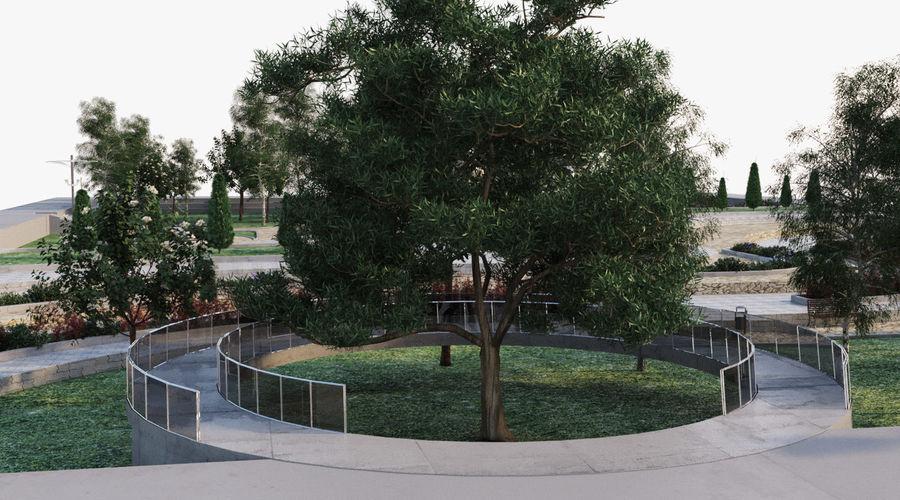 Parkera landskap 2 royalty-free 3d model - Preview no. 7
