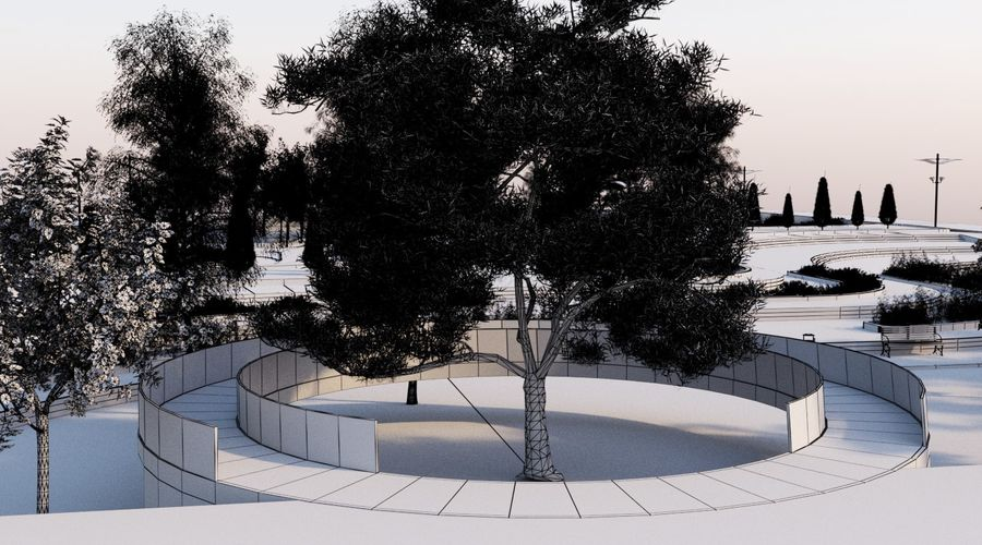 Parkera landskap 2 royalty-free 3d model - Preview no. 11