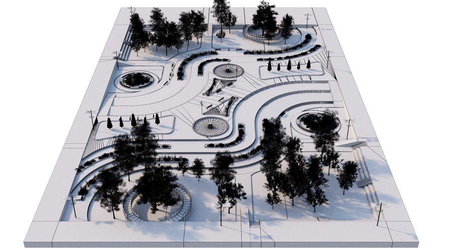 Parkera landskap 2 royalty-free 3d model - Preview no. 10