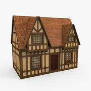 Cartoon Tudor House 3d model