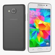 Samsung Galaxy Grand Prime zwart en wit 3d model