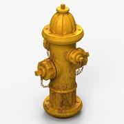 Hydrant (żółty) 3d model