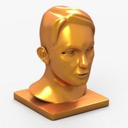 Posąg głowy 3d model