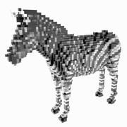 Voxel Zebra 3d model