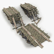 Destroyed Wooden Bridge 3d model