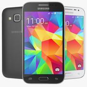 Samsung Galaxy Core Prime zwart en wit 3d model