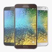 Samsung Galaxy E7 Zwart, Wit en Bruin 3d model