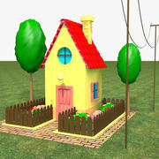 Evin Düşük Poli 3d model