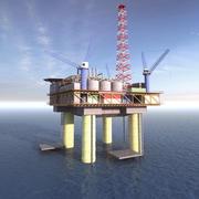 바다 기름 3d model