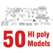 MOBİLYA PAKETİ 50 modeller 3d model