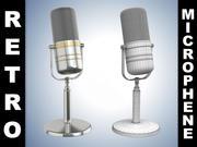 Retro Microphone New 3d model