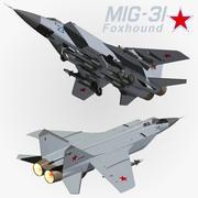 MIG 31 Foxhound 3d model