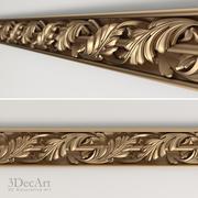 Carved baguette | Bg_012 3d model