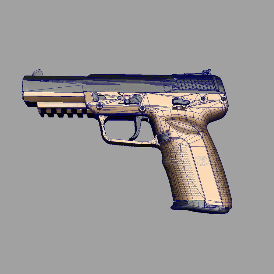 FN FiveSeven royalty-free 3d model - Preview no. 7