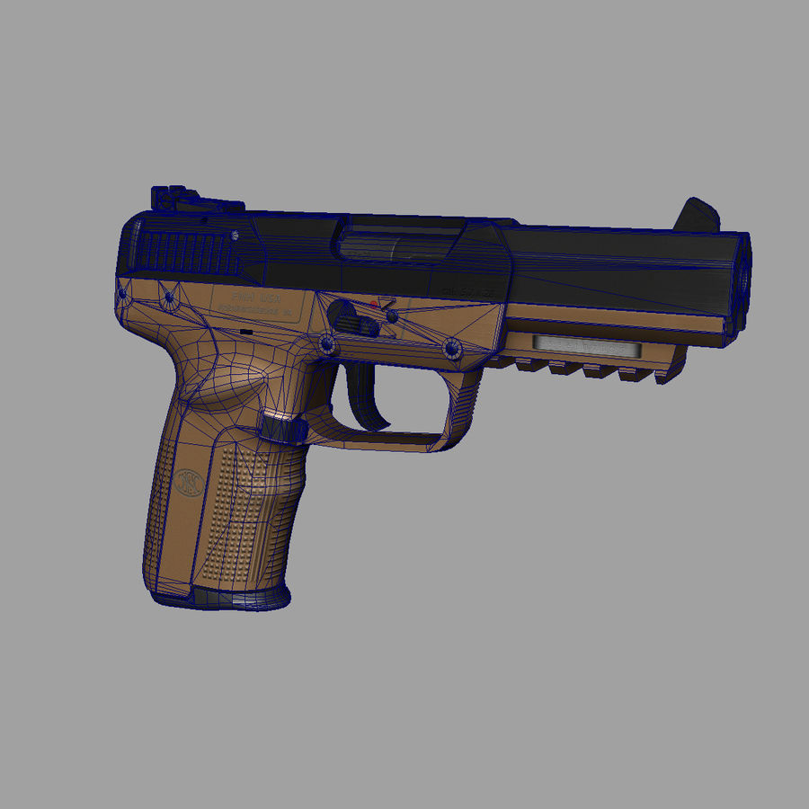 FN FiveSeven royalty-free 3d model - Preview no. 6