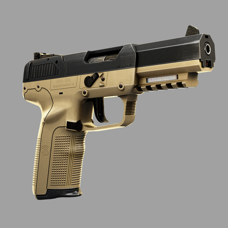 FN FiveSeven royalty-free 3d model - Preview no. 1