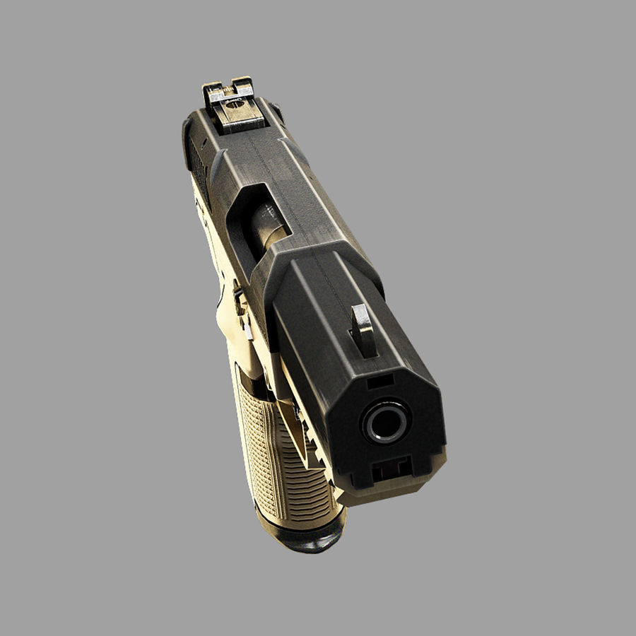 FN FiveSeven royalty-free 3d model - Preview no. 3
