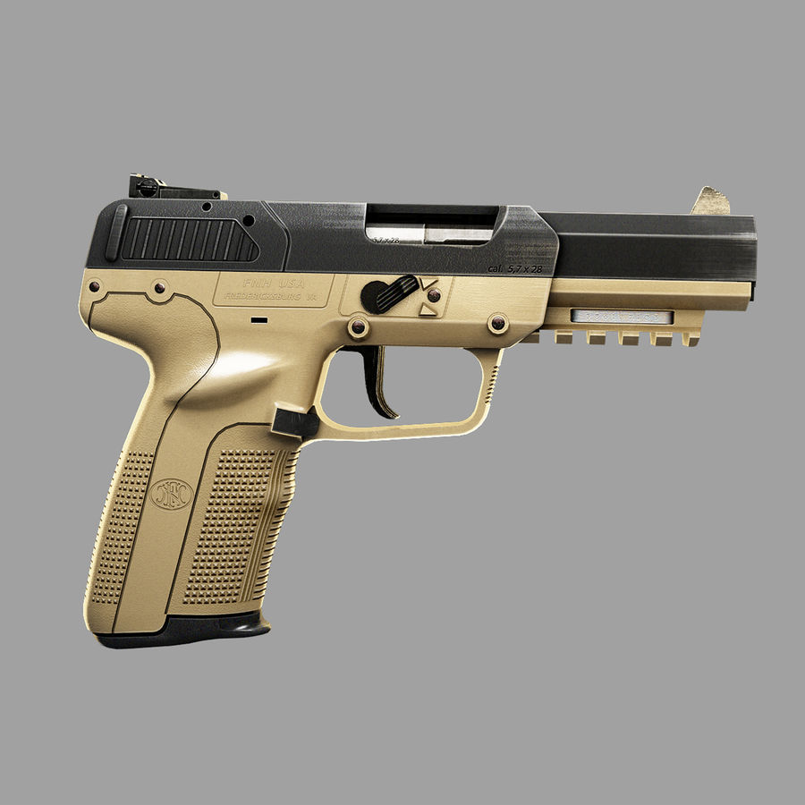 FN FiveSeven royalty-free 3d model - Preview no. 4