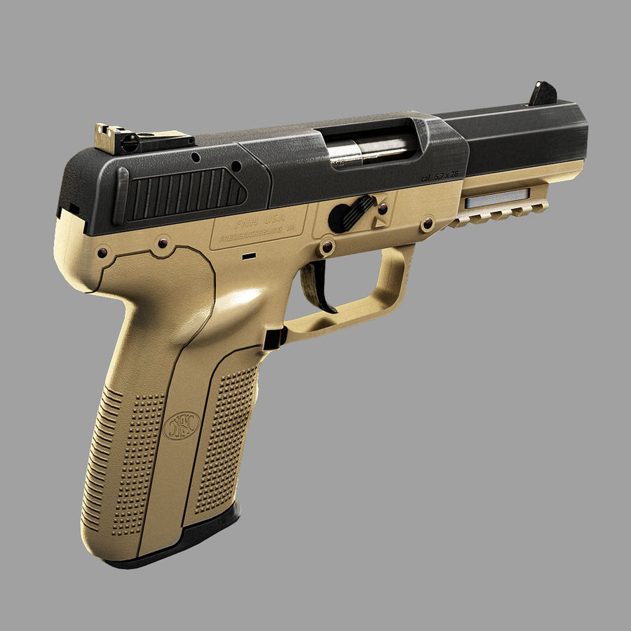 FN FiveSeven royalty-free 3d model - Preview no. 2