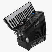 Electronic Accordion Roland 3D Model 3d model