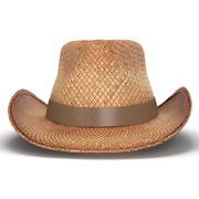 Straw Cowboy Hat 3D Model 3d model