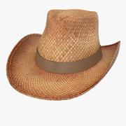 Chapeau de cowboy de paille 3d model