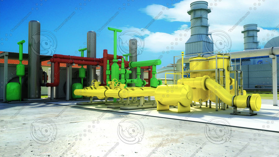 power plant royalty-free 3d model - Preview no. 7