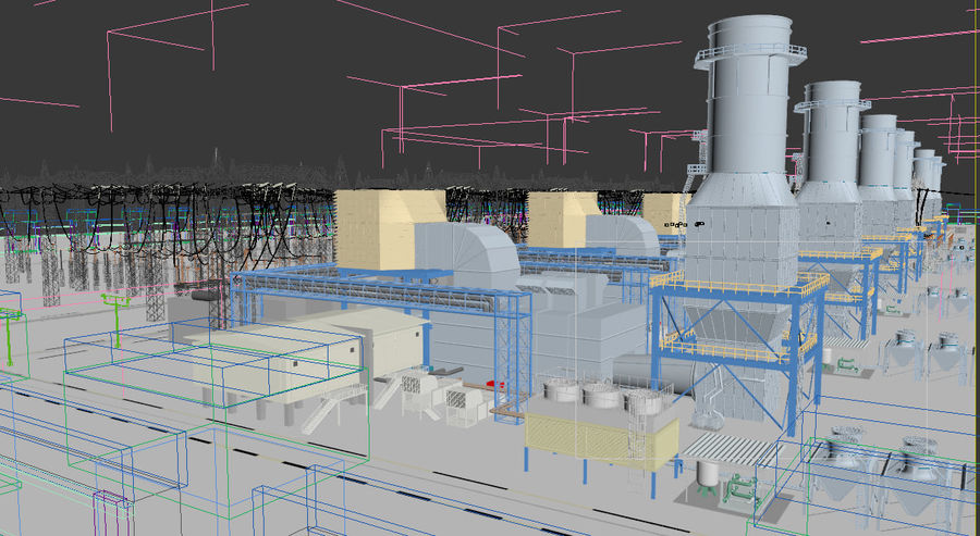 power plant royalty-free 3d model - Preview no. 17