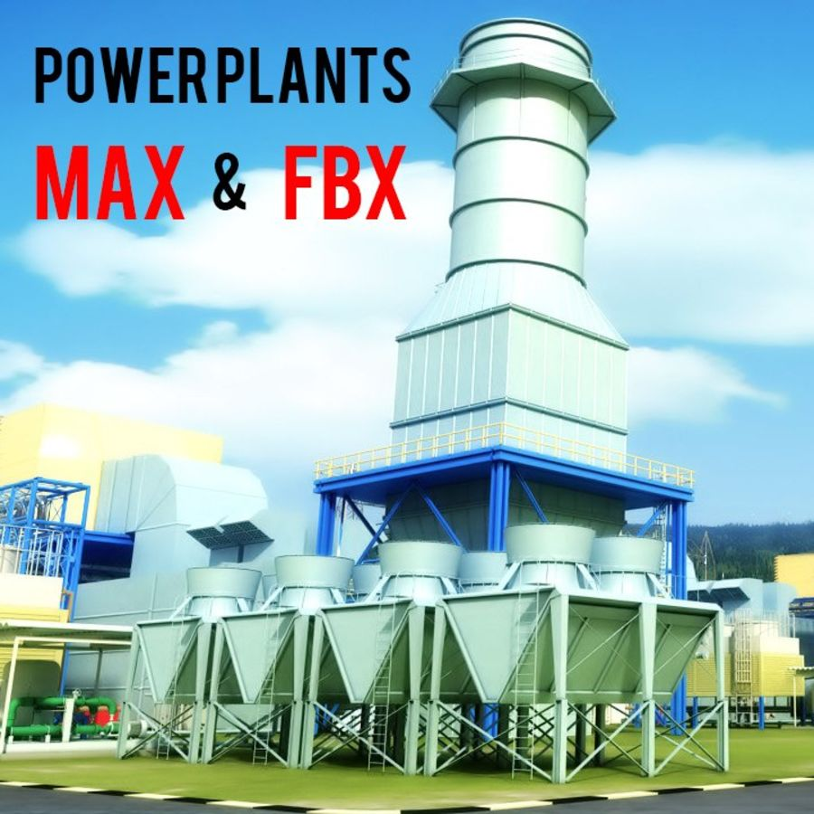 power plant royalty-free 3d model - Preview no. 1