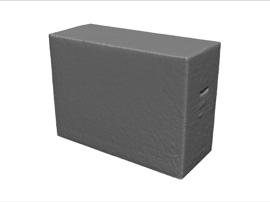 Cardboard Box royalty-free 3d model - Preview no. 6
