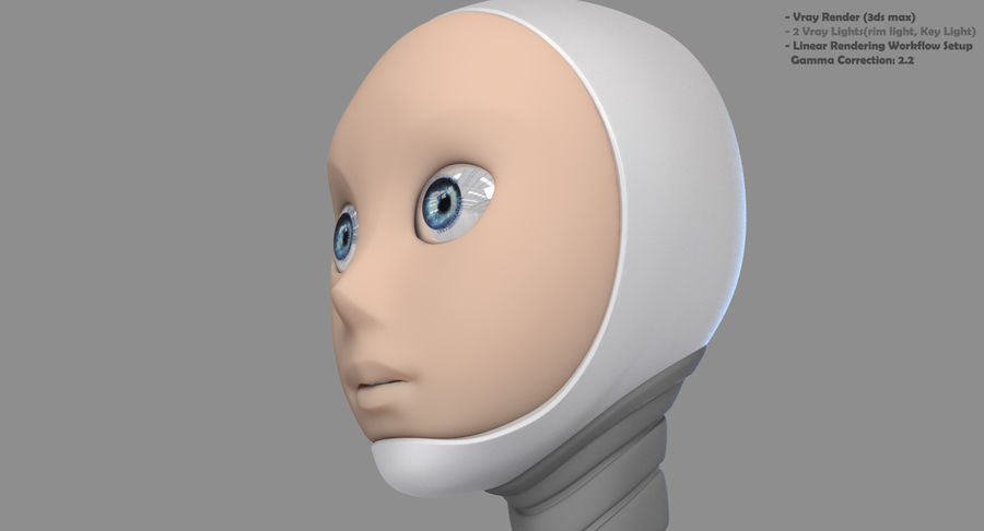 Vrouwelijke robot Android royalty-free 3d model - Preview no. 18