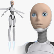 Female Robot Android 3d model