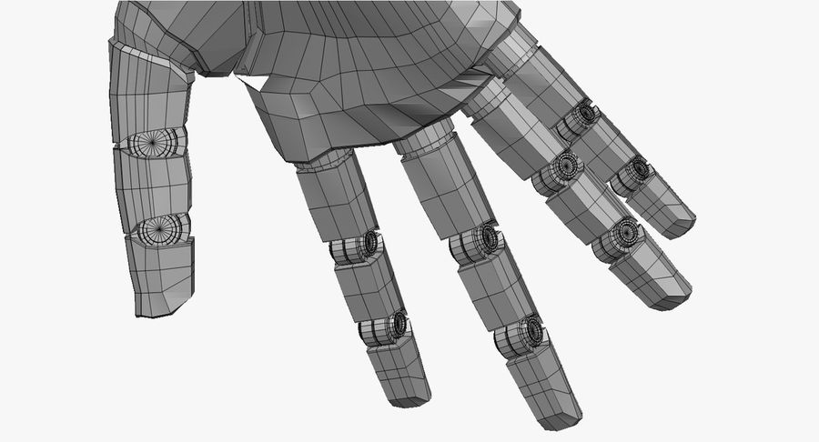 Vrouwelijke robot Android royalty-free 3d model - Preview no. 59