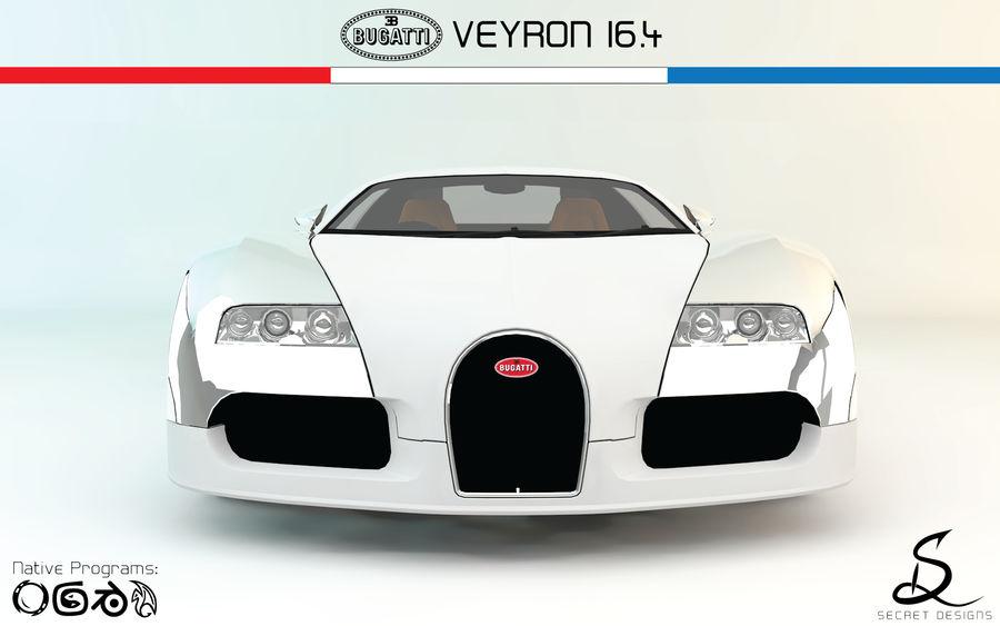 Bugatti Veyron 16.4 royalty-free 3d model - Preview no. 4