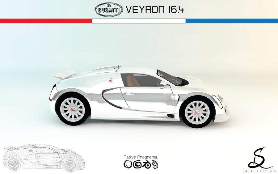 Bugatti Veyron 16.4 royalty-free 3d model - Preview no. 3