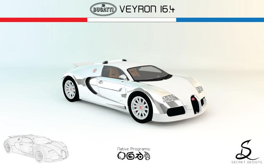 Bugatti Veyron 16.4 royalty-free 3d model - Preview no. 1