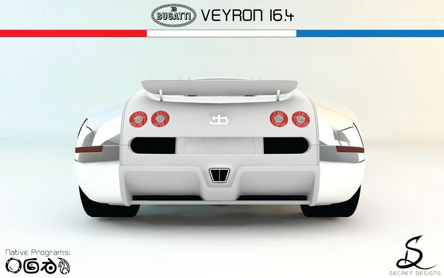 Bugatti Veyron 16.4 royalty-free 3d model - Preview no. 5