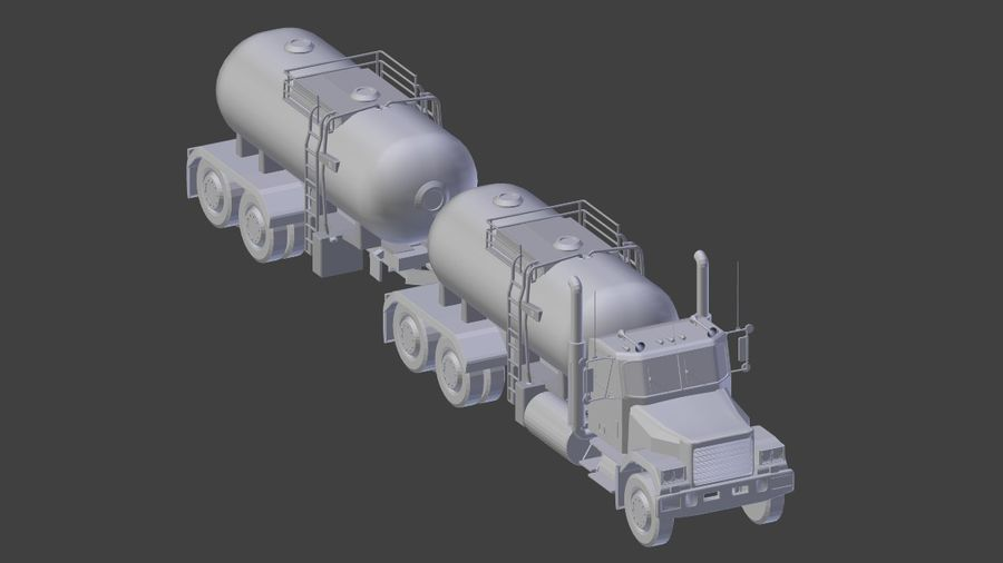 Autocisterna 1 royalty-free 3d model - Preview no. 9