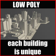 Şehir Bloğu Poly Vol1 3d model