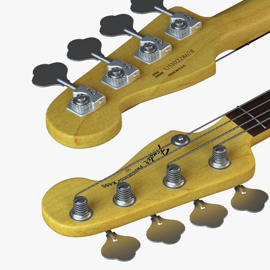 Guitar Fender Precision Bass et son étui royalty-free 3d model - Preview no. 7