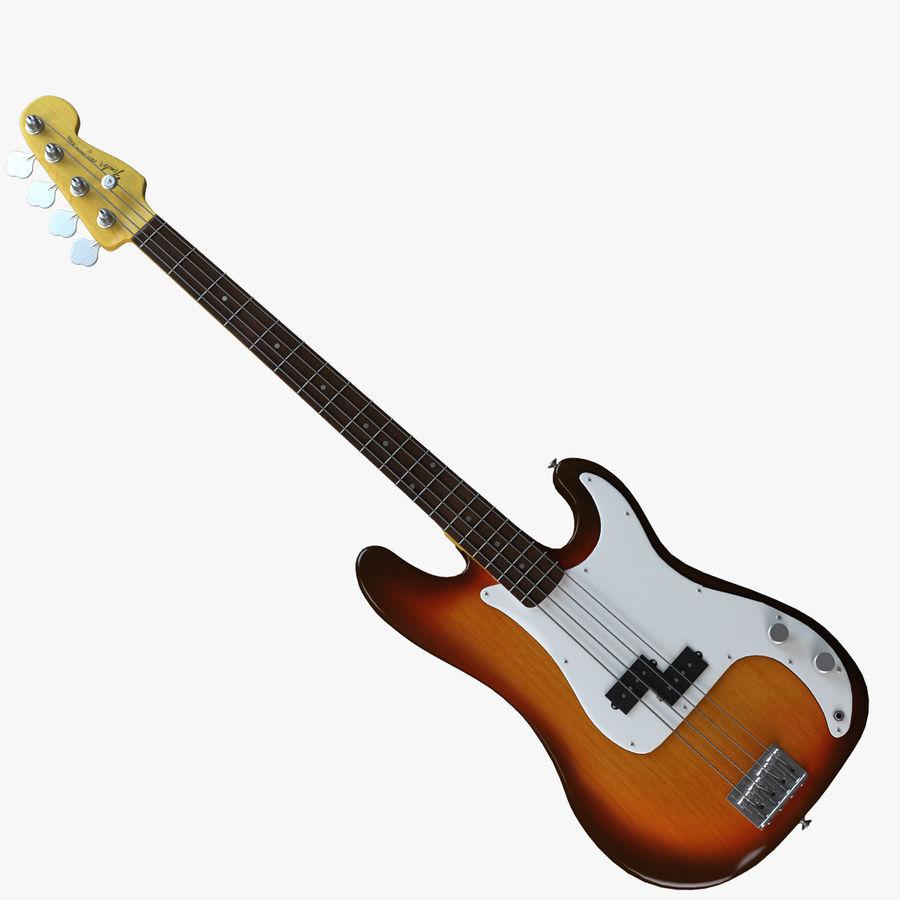 Guitar Fender Precision Bass et son étui royalty-free 3d model - Preview no. 17