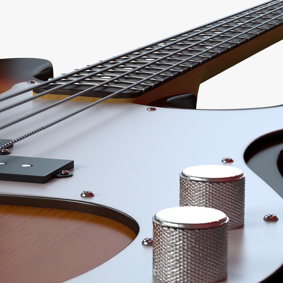 Guitar Fender Precision Bass et son étui royalty-free 3d model - Preview no. 6