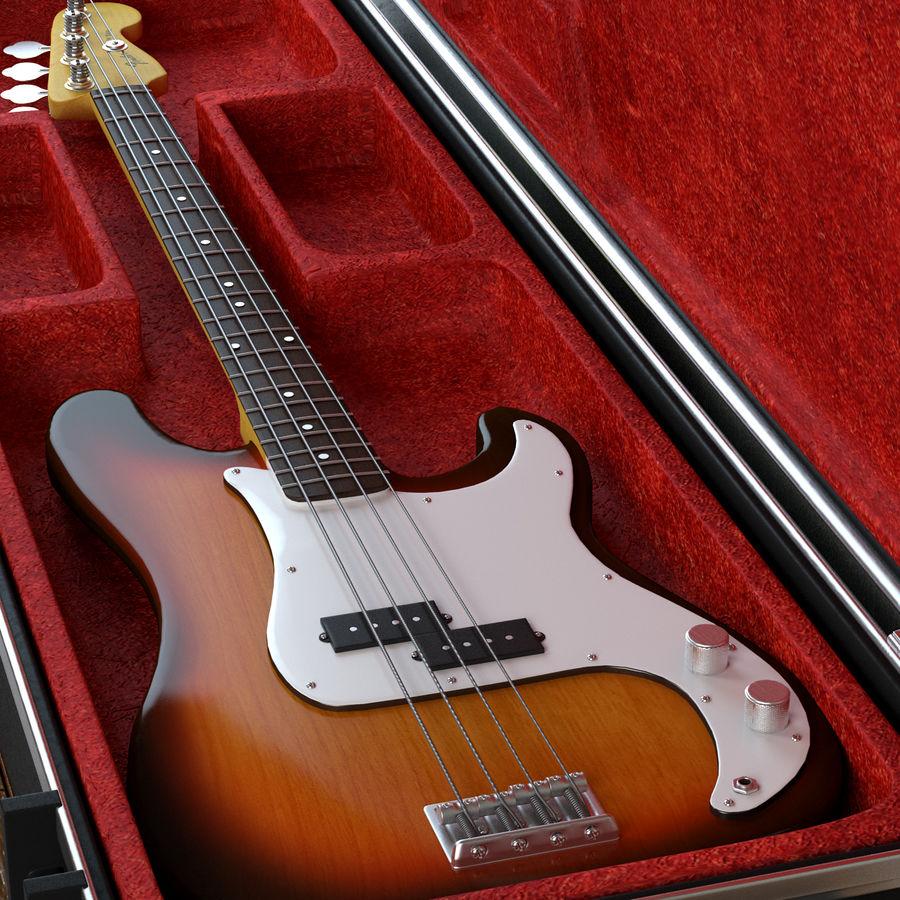 Guitar Fender Precision Bass et son étui royalty-free 3d model - Preview no. 1