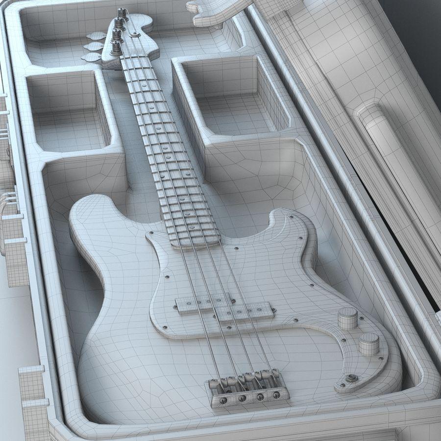 Guitar Fender Precision Bass et son étui royalty-free 3d model - Preview no. 5