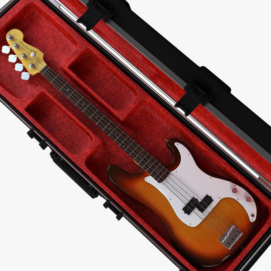 Guitar Fender Precision Bass et son étui royalty-free 3d model - Preview no. 2
