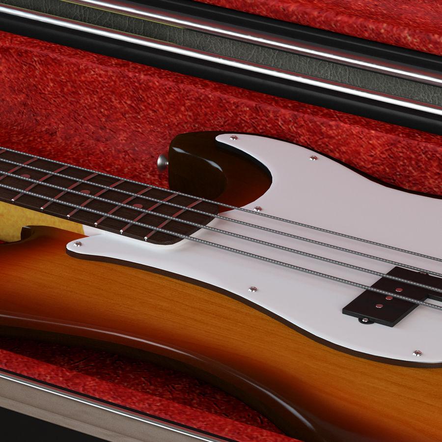 Guitar Fender Precision Bass et son étui royalty-free 3d model - Preview no. 12