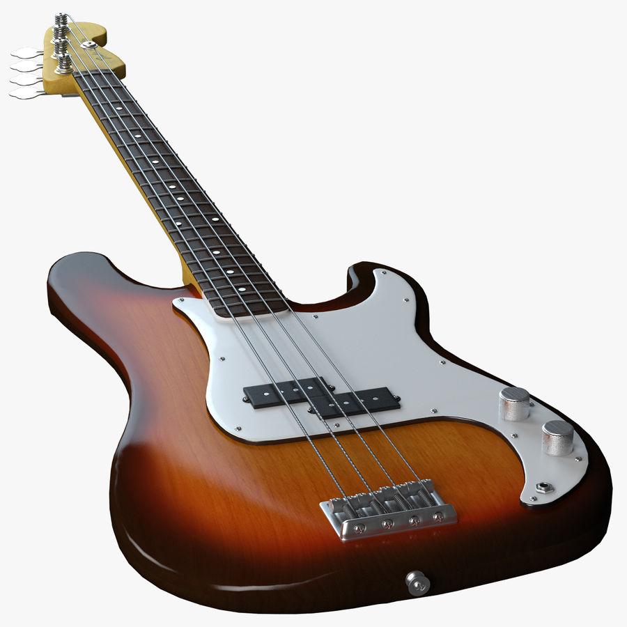 Guitar Fender Precision Bass och etui royalty-free 3d model - Preview no. 3
